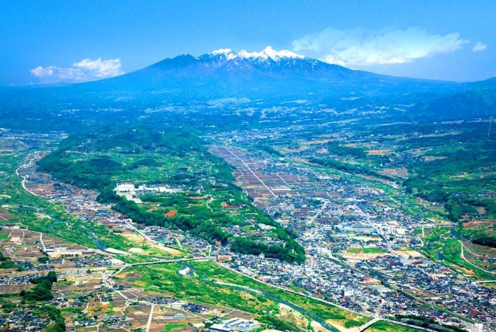 韮崎市 航空写真